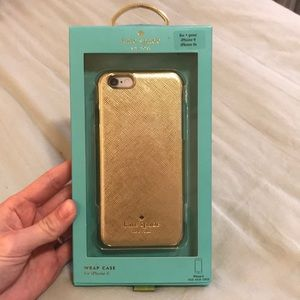 Kate Spade iPhone 6/6s Wrap Case Gold